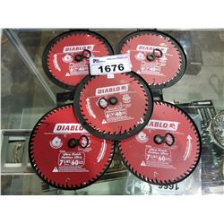 5 DIABLO 7-1/4  ULTRA FINISH SAW BLADES