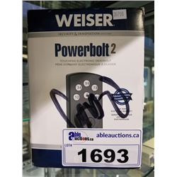 WEISER POWER BOLT 2 TOUCHPAD DEADBOLT