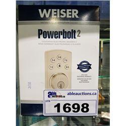 WEISER POWER BOLT 2 TOUCHPAD DEADBOLT
