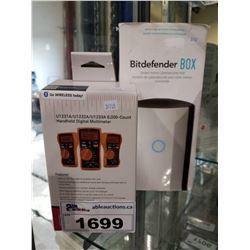 DIGITAL MULTIMETER AND BITDEFENDER BOX