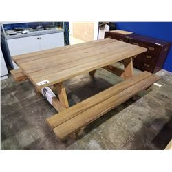 "70"" X 33""  SOLID WOOD PICNIC TABLE"
