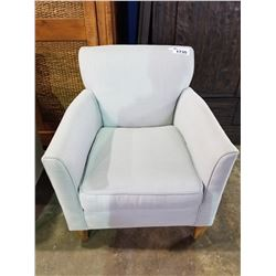 LIGHT GREEN CLOTH ACCENT CHAIR