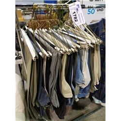 LOT OF  ASSORTED JEANS, AND ASSORTED SLACKS
