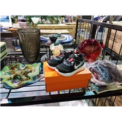 ASSORTED GLASS WEAR, COLLECTABLES AND CHILDREN'S NIKE SHOES