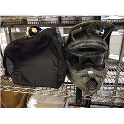 FOX MOTORCYCLE HELMET WITH CASE SIZE LARGE