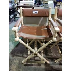 BAR HEIGHT DIRECTOR STYLE LEATHER CHAIR
