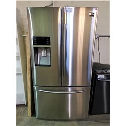 SAMSUNG STAINLESS STEEL FRENCH DOOR FRIDGE WITH ICE AND WATER MODEL #RF23HCEDBSR