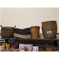 4 ASSORTED SIZED BASKETS