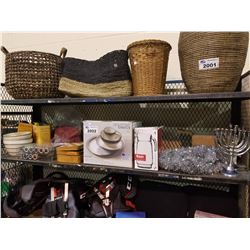 GOURMET BASICS BAILEY STONEWARE SET, POKER CHIP SET, GAME BOARDS, PLANT POTS, 55-OZ PITCHER, ETC