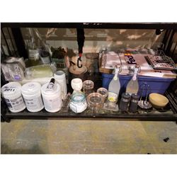 FEDEX SHIPPING BOXES, DISINFECTANT WIPES, JARS & MISC