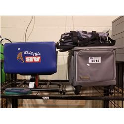 RECOLLECTIONS TRAVEL BAG ON WHEELS, ROOTS 73 DUFFLE BAG & AB TWISTER