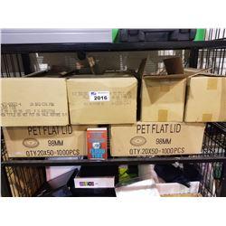 BOXES OF PET FLAT LIDS & CLIVE CUSSLER FLOOD TIDE BOOKS