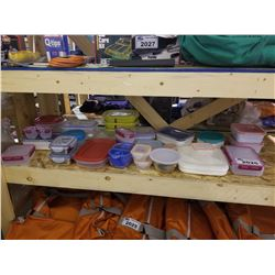 ASSORTED TUPPERWARE/FOOD STORAGE CONTAINERS