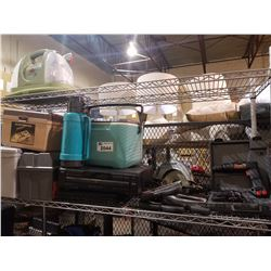 SKILSAW, ARROW STAPLERS, SKIL 2273 3/8  CORDLESS DRILL/DRIVER, COLEMAN COOLER, DELUXE SEWING BOX,
