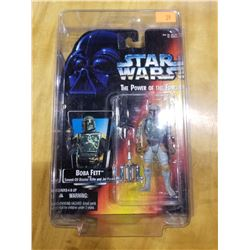 STAR WARS THE POWER OF THE FORCE BOBA FETT 2 DOTS ON HAND VARIANT