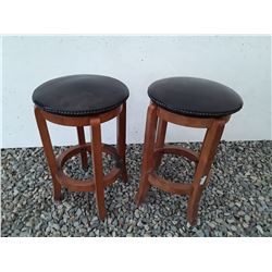 103 - Two Leather top stools