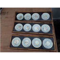 114 - Lot of Framed Collector Plates    3x4