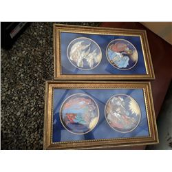 115 - Lot of Framed Collector Plates    2x2