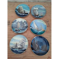 """122 - Complete set of 6 Collector Plates """"Racing for pride"""""""