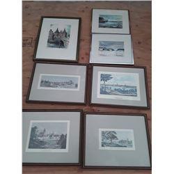 123 - Lot of 7 Vintage Framed Pictures