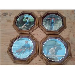 124 - complete set of 4 Collector Plates Refections of youth