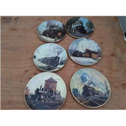 125 - Various series of collector plates Trains total 6