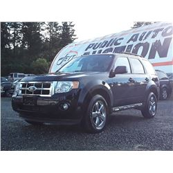 G6 --  2009 FORD ESCAPE XLT , Black , 182002  KM's