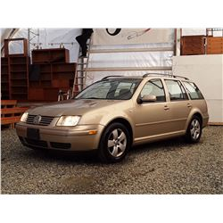 A3 --  2003 VW JETTA GLS , Brown , 260851  KM's
