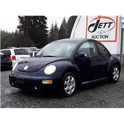 "A10 --  2003 VW BEETLE GLS , Blue , 240292  KM's  ""NO RESERVE"""