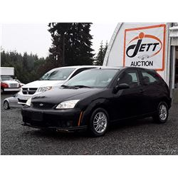 C2 --  2007 FORD FOCUS ZX3 , Black , 152489  KM's