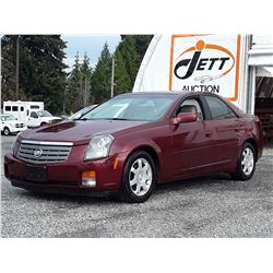 D1 --  2003 CADILLAC CTS SEDAN, RED, 97,763 MILES
