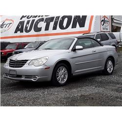 H6 --  2008 CHRYSLER SEBRING TOURING CONVERTIBLE , Grey , 76,436 MILES  KM's