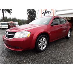 K2 --  2009 DODGE AVENGER SXT , Red , 185509  KM's