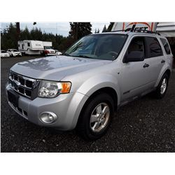 L2 --  2008 FORD ESCAPE XLT , Silver , 145,900 MILES