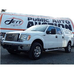 H1 --  2010 FORD F150 XLT SUPERCREW 4X4 , White , 277854  KM's