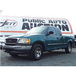 A12H --  1998 FORD F150 XL , Green , 300691  KM's