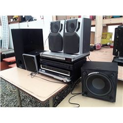 139 - 4 Home theatre Receivers, Speakewrs sub woofer