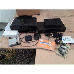 144 -Large Lot of Misc Electronics , Printer , ROKU