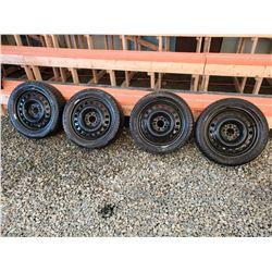 148 - Set of 4 Motomaster Winter Edge Tires 215/45R17 on Steel Rims