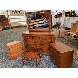 166 - Dresser with Mirror