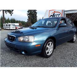 B6 --  2003 HYUNDAI ELANTRA GLS , Blue , 122345  KM's