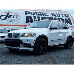 C6B --  2008 BMW X5 4.8I , White , 211775  KM's