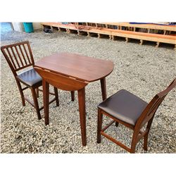 193-Solid Wood Parlor Style Table & 2 Chairs