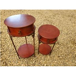194 - 2 Solid Wood Side Tables