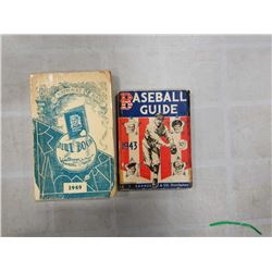 1943 AND 1949 BASEBALL GUIDE BOOKS