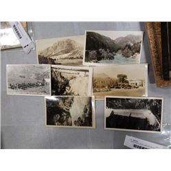 7  1940S PHOTO POSTCARDS OF BC AND FRASER CANYON ETC