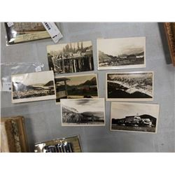 7  1940S PHOTO POSTCARDS OF BC AND ALBERTA