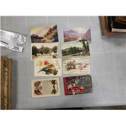 ASSORTED POSTCARDS 1915 AND 1923 FISHING SCENES
