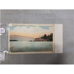 EARLY VANCOUVER COLORED POST CARD AND 1ST DAY COVER