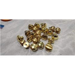APPROX 24 HEAVY SOLID BRASS HARDWARE KNOBS